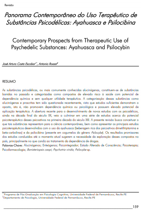 Cover of Contemporary Prospects from Therapeutic Use of Psychedelic Substances: Ayahuasca and Psilocybin.