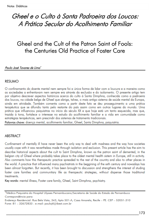 Cover of Gheel and the Cult of the Patron Saint of Fools: the Centuries Old Practice of Foster Care.