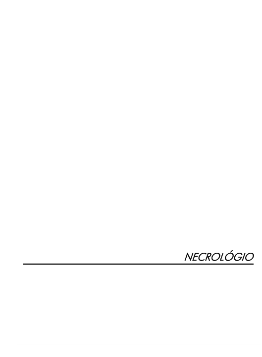 Cover of NECROLÓGIO