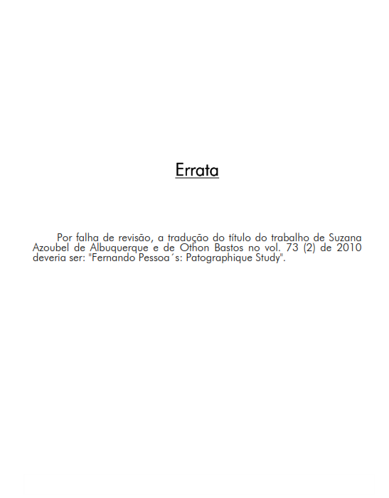 Cover of Errata